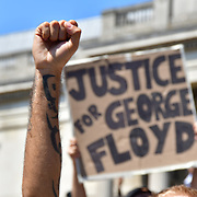 George Floyd- protest of US police murder, London, UK