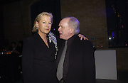 Georgia Oetker and Michael Attenborough. The Almeida Theatre Charity Christmas Gala, to raise funds for the theatre, at the Victoria Miro Gallery, London.  1 December  2005. ONE TIME USE ONLY - DO NOT ARCHIVE  © Copyright Photograph by Dafydd Jones 66 Stockwell Park Rd. London SW9 0DA Tel 020 7733 0108 www.dafjones.com