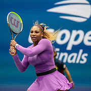 2019 US Open Tennis Tournament- Day Thirteen.    Serena Williams of the United States in action against Bianca Andreescu of Canada in the Women's Singles Final on Arthur Ashe Stadium during the 2019 US Open Tennis Tournament at the USTA Billie Jean King National Tennis Center on September 7th, 2019 in Flushing, Queens, New York City.  (Photo by Tim Clayton/Corbis via Getty Images)