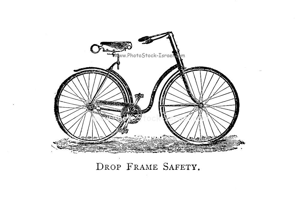 Drop Frame Safety From Wheels and Wheeling; An indispensable handbook for cyclists, with over two hundred illustrations by Porter, Luther Henry. Published in Boston in  1892