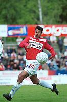 Caleb Francis, Kongsvinger. Kongsvinger - Hamkam 1-1. 1. divisjon 2000, 1. juni 2000. (Foto: Peter Tubaas/Fortuna Media AS)