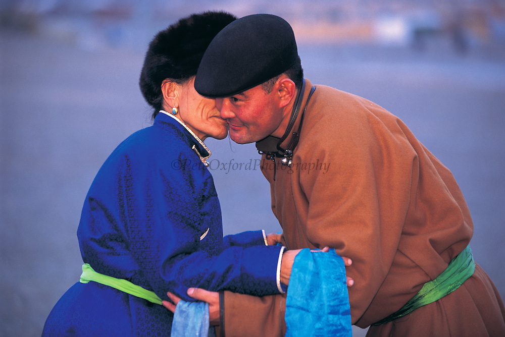 Lunar New Year's Greeting<br /> Sevrei Sum, Gobi Desert<br /> Mongolia<br /> Oldest person has arms on top