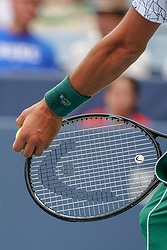 August 15, 2018 - Mason, Ohio, USA - Novak Djokovic (SRB) prepares to serve during Wednesday's second round of the Western and Southern Open at the Lindner Family Tennis Center, Mason, Oh. (Credit Image: © Scott Stuart via ZUMA Wire)