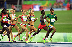 RIO DE JANEIRO, Aug. 20, 2016  South Africa's Caster Semenya (R) competes during the women's 800m final of Athletics at the 2016 Rio Olympic Games in Rio de Janeiro, Brazil, on Aug. 20, 2016. Caster Semenya claimed the title. (Credit Image: © Xinhua via ZUMA Wire)