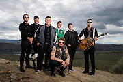 Dropkick Murphy's pose for a portrait backstage at the Gorge Amphitheater on May 26, 2013 in Quincy, Washington. (Photo by Steven Dewall)