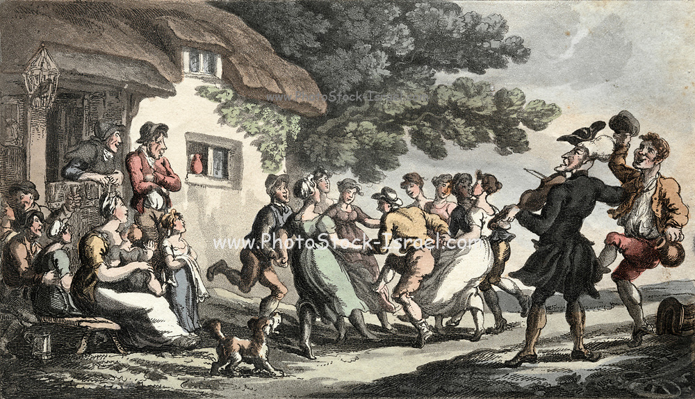 The Rev. Dr. Syntax Rural Sport 1813 Thomas Rowlandson (British, 1756-1827) England, 19th century Etching, hand colored