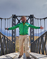 Crossing the Bridge in Torres del Paine National Park. Image taken with a Fuji X-T1 camera and Zeiss 32 mm f/1.8 lens.