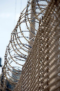 fence with razor wire