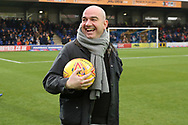 Ball sponsor during the EFL Sky Bet League 1 match between AFC Wimbledon and Southend United at the Cherry Red Records Stadium, Kingston, England on 24 November 2018.