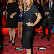 NLD/Amsterdam/20120917- Modeshow wintercollectie 2012 Ronald Kolk, Robert Schoemacher en partner Claudia van Zweden