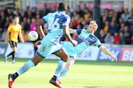 Craig Mackail-Smith of Wycombe Wanderers in action. EFL Skybet football league two match, Newport county v Wycombe Wanderers at Rodney Parade in Newport, South Wales on Saturday 9th September 2017.<br /> pic by Andrew Orchard, Andrew Orchard sports photography.
