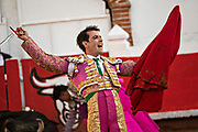 Bullfighter Arturo Macías celebrates a kill at the Plaza de Toros in San Miguel de Allende, Mexico.