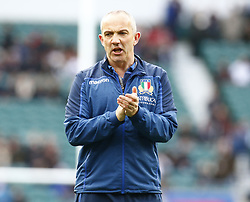 March 9, 2019 - London, England, United Kingdom - Conor O'Shea Head Coach of Italy.during the Guinness 6 Nations Rugby match between England and Italy at Twickenham  stadium in Twickenham  England on 9th March 2019. (Credit Image: © Action Foto Sport/NurPhoto via ZUMA Press)