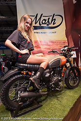 The Mash booth during EICMA, the largest international motorcycle exhibition in the world. Milan, Italy. November 20, 2015.  Photography ©2015 Michael Lichter.