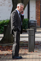 © Licensed to London News Pictures. 14/10/2021. High Wycombe , UK. Clifford Rennie arrives at High Wycombe Magistrates' Court where he admitted causing the deaths of cyclists Andrew Coles and Damien Natale by careless driving in Stokenchurch, Buckinghamshire on 1st June 2020. Photo credit: Peter Manning/LNP