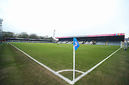 General view of the Crown Oil Arena before the EFL Sky Bet League 1 match between Rochdale and Wigan Athletic at the Crown Oil Arena, Rochdale, England on 16 January 2021.