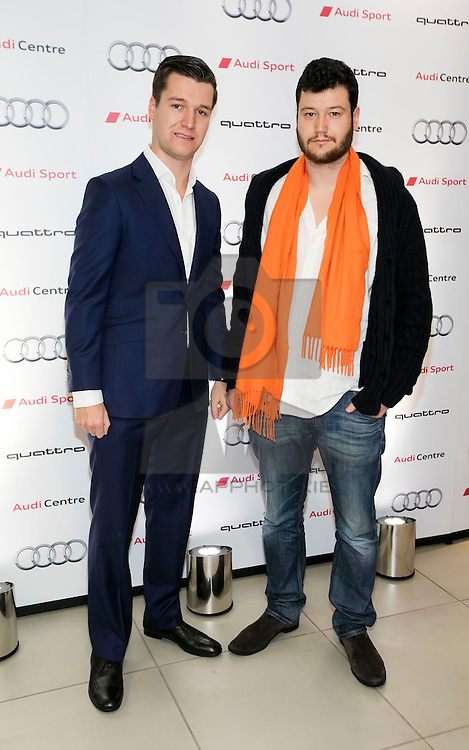 Conor Molony and Patrick Molony pictured at the opening of Audi Sport in Ballsbridge, Dublin. Audi Sport specialises in the sale and servicing of Audi's high-end RS range, including the all-new Audi R8; its flagship supercar. The RS range — born on the racetrack and built for the road — combines speed, lightweight design, powerful engine design and the very latest in cutting-edge technological innovation.  Picture Andres Poveda<br /> <br /> -ends- <br /> <br /> For more information please visit www.audi.ie<br /> Facebook: www.facebook.com/audiireland<br /> Twitter: twitter.com/audiireland<br /> Instagram: instagram.com/audiireland<br /> Media Contact:<br /> Elena Healy | elena@pr360.ie | 01 637 1777 | 086 389 4988 <br /> Paddy O'Dea | paddy@pr360.ie | 01 637 1777 | 086 357 3365