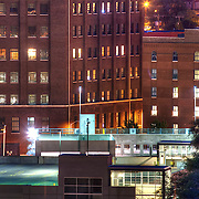 Loft buildings in the southern area of the Crossroads District seen from near Liberty Memorial, Kansas City, Missouri.