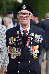 © Licensed to London News Pictures. 11/07/2013. London, UK. The chest of Korean War veteran Derrick Rex, which includes his father's World War 1 and 2 medals mounted on the left, as veterans of the conflict parade on Horse Guards Parade in London today (11/07/2013) before marching to Westminster Abbey. The parade and service held to commemorate the 60th Anniversary of the end of the Korean War, often known as the 'Forgotten War', which saw a United Nations force of many nations fight against North Korean and Chinese forces trying to invade South Korea. Photo credit: Matt Cetti-Roberts/LNP
