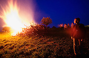 """Easter celebrations. Traditional bonfires (""""Osterfeuer""""), an ancient tradition meant to chase away all evil spirits."""