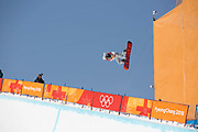 Kelly Clark, USA, during the womens halfpipe final at the Pyeongchang Winter Olympics on 13th February 2018 at Phoenix Snow Park in South Korea