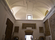 Inside the archaeological museum display of mosaics, Alcazar palace, Cordoba, Spain