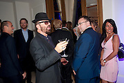 DAVE STEWART; JONATHAN SHALLIT, Piccadilly theatre's Ghost The Musical Opening night party. Corinthia Hotel. Whitehall Place. London. 19 July 2011. <br /> <br />  , -DO NOT ARCHIVE-© Copyright Photograph by Dafydd Jones. 248 Clapham Rd. London SW9 0PZ. Tel 0207 820 0771. www.dafjones.com.