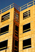 New construction of an apartment building