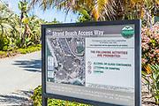 Strand Beach Access Way Signage in Dana Point