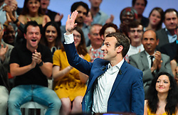 French Minister of the Economy, Industry and the Digital Sector and 'En Marche' movement leader, Emmanuel Macron during his first political meeting at Maison de la Mutualite event hall, in Paris, France on July 12, 2016. Photo by Francois Pauletto/ABACAPRESS.COM