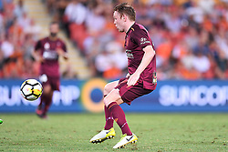 January 8, 2018 - Brisbane, QUEENSLAND, AUSTRALIA - Corey Brown of the Roar (5) in action during the round fifteen Hyundai A-League match between the Brisbane Roar and Sydney FC at Suncorp Stadium on Monday, January 8, 2018 in Brisbane, Australia. (Credit Image: © Albert Perez via ZUMA Wire)