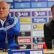 NLD/Rotterdam/20100919 - Voetbalwedstrijd Feyenoord - Ajax 2010, trainer Martin Jol en Mario Been