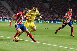 October 28, 2017 - Madrid, Spain - Saul whit the ball..Draw at 1 in Wanda Metropolitano stadium. (Credit Image: © Jorge Gonzalez/Pacific Press via ZUMA Wire)