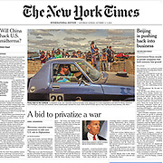 New York Times Front Page Deni Ute Muster Tearsheet by Australian Melbourne based photojournalist Asanka Brendon Ratnayake