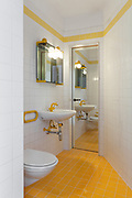 Architecture, Interiors of empty apartment, bathroom