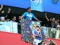 June 26, 2018 - St. Petersburg, Russia - June 26, 2018, Russia, St. Petersburg, FIFA World Cup 2018, First round, Group D, Third round. Football match of Nigeria - Argentina at the stadium of St. Petersburg. Diego Maradona. (Credit Image: © Russian Look via ZUMA Wire)