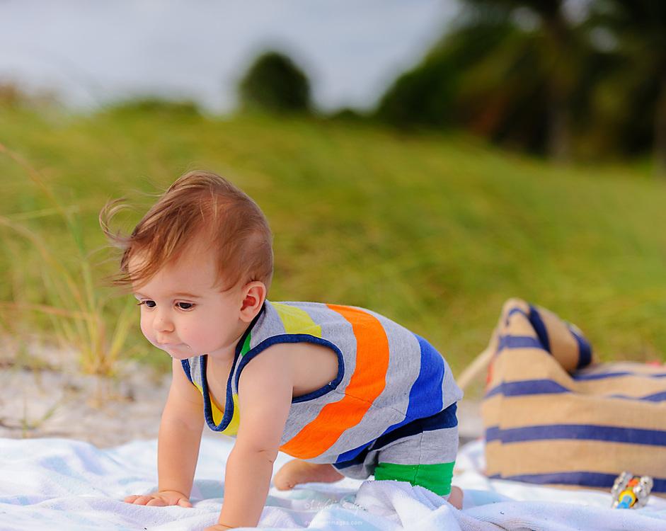 Lucas on Sombrero Beach in Marathon, Florida.