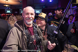 Michael LIchter at a rockin' Mama Tried after-party at the High Note karaoke bar. Milwaukee, WI. USA. Saturday February 24, 2018. Photography ©2018 Michael Lichter.