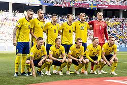 June 18, 2018 - Nizhny Novgorod, Russia - Back row from left; Pontus Jansson, Andreas Granqvist, Marcus Berg, Albin Ekdal, Ola Toivonen, Robin Olsen, front row Mikael Lustig, Ludwig Augustinsson, Viktor Claesson, , Emil Forsberg, Sebastian Larsson..2018 FIFA World CUP, Sweden - South Korea, 1-0, Nizhny Novgorod Stadium, Russia, 2018-06-18..(c) ORRE PONTUS  / Aftonbladet / IBL BildbyrÃ¥....* * * EXPRESSEN OUT * * *....AFTONBLADET / 85527 (Credit Image: © Orre Pontus/Aftonbladet/IBL via ZUMA Wire)