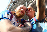 Aron Gunnarsson (Iceland) with the wife after the match<br /> Moscow 16-06-2018 Football FIFA World Cup Russia  2018 <br /> Argentina - Iceland / Argentina - Islanda<br /> Foto Matteo Ciambelli/Insidefoto