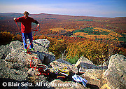 Outdoor recreation, Rock Climbing, Repelling, Pole Steeple, Pine Grove Furnace State Park, Cumberland Co., PA