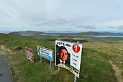 A poster for Johnny Healy-Rae at Coomakista, Portmagee 2019.<br /> Photo: Don MacMonagle