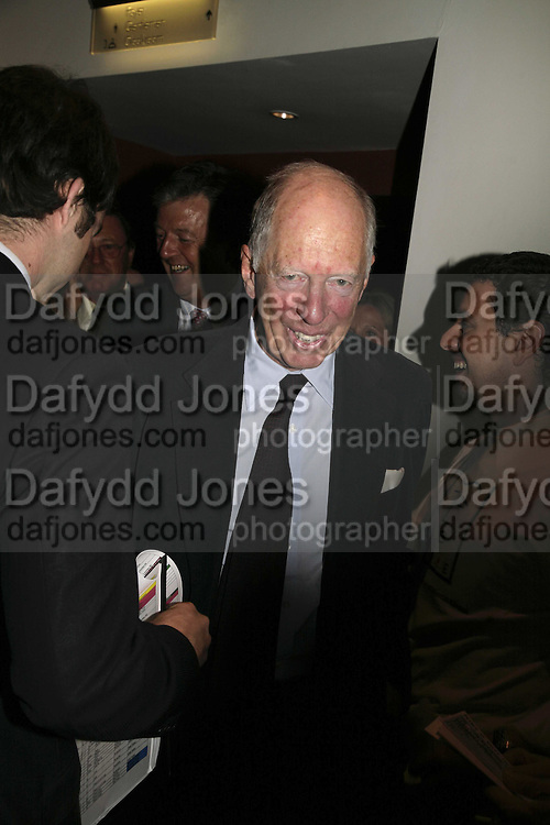 LORD JACOB ROTHSCHILD, The John Betjeman Variety Show, sponsored by Shell, in aid of Sane. In the Presnece of the Prince of Wales and the Duchess of Cornwall. Prince of Wales theatre. London. 10 September 2006. ONE TIME USE ONLY - DO NOT ARCHIVE  © Copyright Photograph by Dafydd Jones 66 Stockwell Park Rd. London SW9 0DA Tel 020 7733 0108 www.dafjones.com