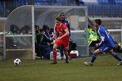 BANGOR, WALES - Tuesday, November 20, 2018: Wales' Ryan Astley during the UEFA Under-19 Championship 2019 Qualifying Group 4 match between Wales and San Marino at the Nantporth Stadium. (Pic by Paul Greenwood/Propaganda)