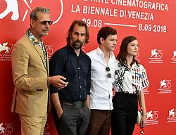 The Mountain Photocall during the 75th Venice Film Festival. 30 Aug 2018 Pictured: Jeff Goldblum, Rick Alverson, Tye Sheridan, Hannah Gross. Photo credit: M. Angeles Salvador/MEGA TheMegaAgency.com +1 888 505 6342