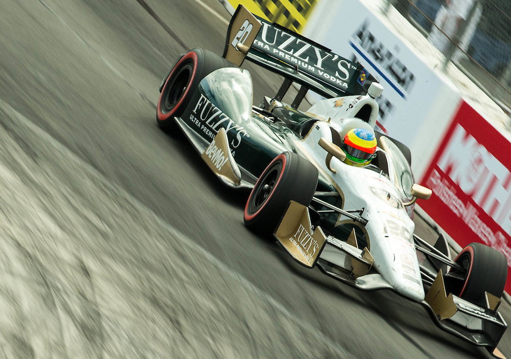 Mike Conway turn 11 just before winning the Long Beach Grand Prix 2014
