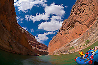 Whitewater rafting trip (oar trip) on the Colorado River in Marble Canyon , Grand Canyon National Park, Arizona USA