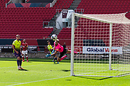 Bristol City's Nahki Wells (21) shoots towards the Exeter City goal during the EFL Cup match between Bristol City and Exeter City at Ashton Gate, Bristol, England on 5 September 2020.