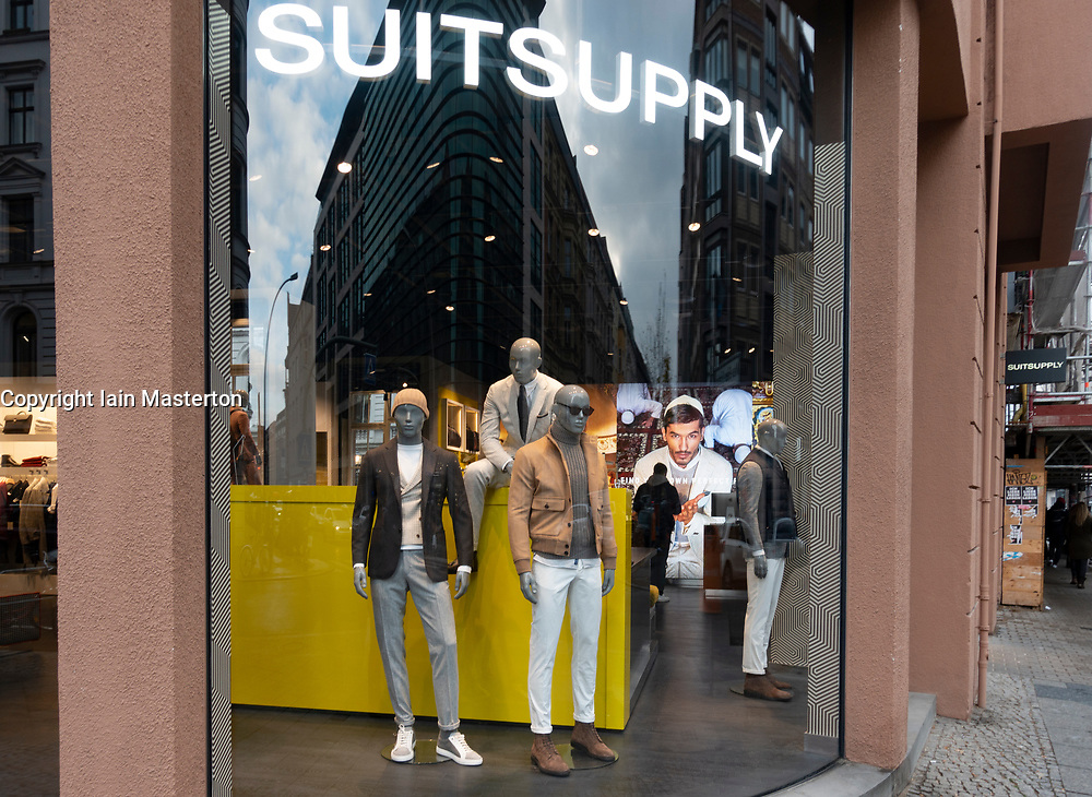 Exterior of Suitsupply clothing store in Mitte Berlin, Germany