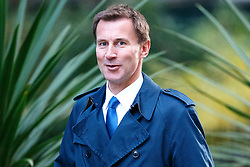 © Licensed to London News Pictures. 13/10/2015. London, UK. Health Secretary JEREMY HUNT attending to a cabinet meeting in Downing Street on Tuesday, 13 October 2015. Photo credit: Tolga Akmen/LNP